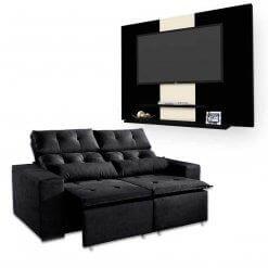 Sofa-Retratil-e-Reclinavel-Uba-2m-Painel-DON-Para-TV-ata-42-Polegadas-Preto-Preto