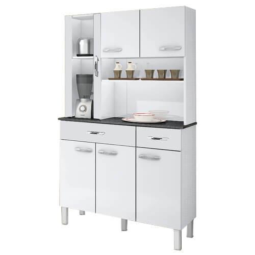 Armario Kit de Cozinha Alfa 6 portas Salleto Branco