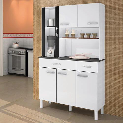 Armario Kit de Cozinha Alfa 6 portas Salleto Moveis