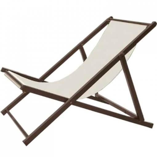Cadeira Espreguicadeira Jardim Dobravel Bege