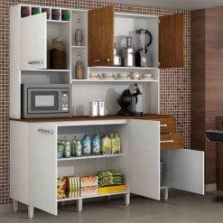 Cozinha Kit Topazio 6 portas Aberto