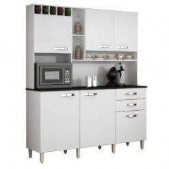 Cozinha Kit Topazio 6 portas Branco