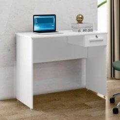 Escrivaninha 1 Gaveta com Chave Hanna Borsari branca