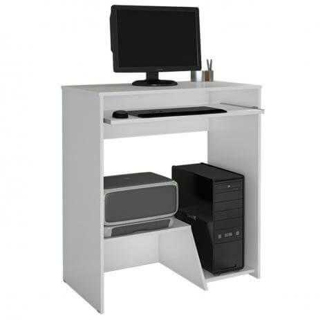 Escrivaninha Mesa Para Computador Iris JCM Branca