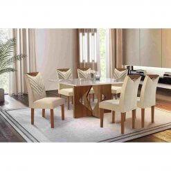 Mesa Moscou 170×090 com 6 cadeiras Oxford