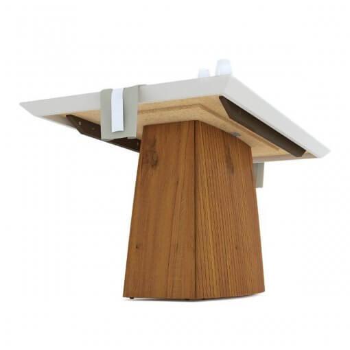 Mesa de Jantar Sorela Tampo em Vidro Com 6 Cadeiras Terrara Off White Detalhe