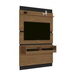 Painel Home Torino para TV até 47 polegadas EDN Moveis Naturale Preto