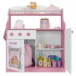 Porta Brinquedos Kitchen Moveis Estrela aberto
