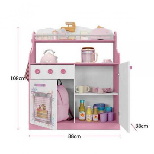 Porta Brinquedos Kitchen Moveis Estrela medidas
