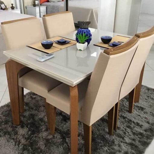 Mesa de Jantar 4 cadeiras Londrina Rufato Moveis Foto Real