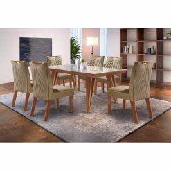 Mesa de Jantar Hera 6 cadeiras LJ
