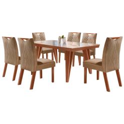 Mesa de Jantar Hera 6 cadeiras LJ Moveis