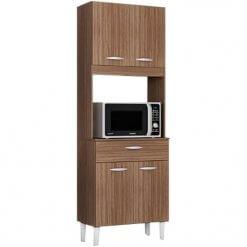 Armario Kit Cozinha Kelly Com 4 Portas e 1 Gaveta capaccino