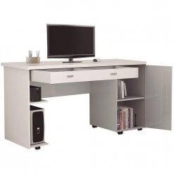 Mesa Escrivaninha Ariel Branca Aberta