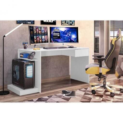 Mesa Para Computador Gamer Branco