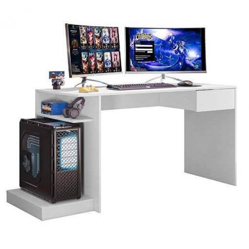 Mesa Para Computador Gamer Branco Mobler