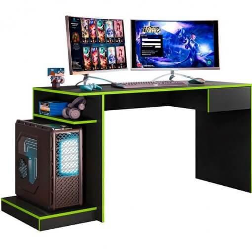 Mesa Para Computador Gamer Mobler Verde