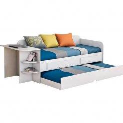 Sofa Cama Helena com Escrivaninha Cimol Branco