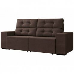 Sofa Retratil e Reclinavel Logan 2m marrom