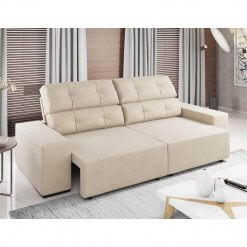 Sofa Retratil e Reclinavel Logan 2m pastel