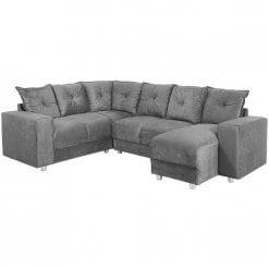 Sofa-de-Canto-5070-com-Chaise-5-Lugares-Suede-e-Almofadas-Soltas