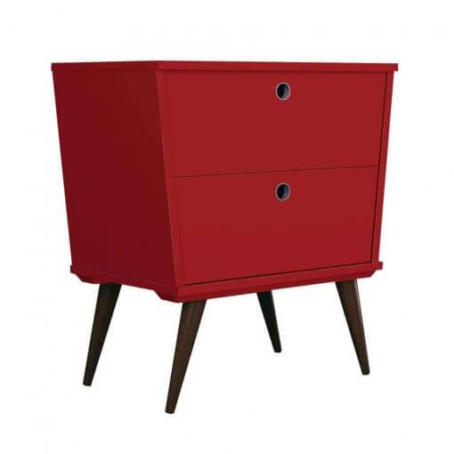 Mesa de Cabeceira Dream 2 Gavetas EDN Moveis vermelho