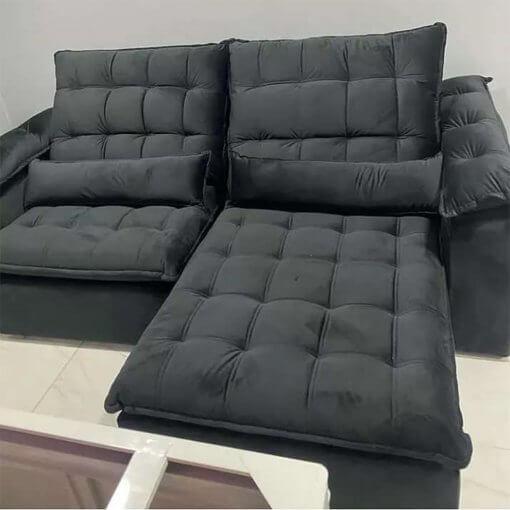 Sofa Madri Retratil E Reclinavel 4 Lugares 230cm Foto Real