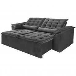 Sofa Madri Retratil e Reclinavel 230cm cinza