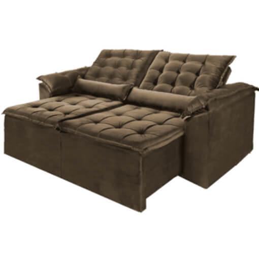 Sofa Madri Retratil e Reclinavel 230cm marrom