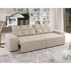 Sofa Retratil e Reclinavel Bella 230cm Viero Pastel