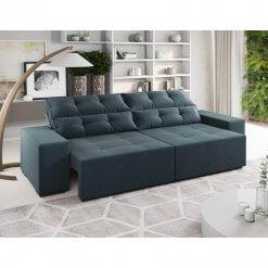 Sofa Retratil e Reclinavel Bella 230cm Viero Petroleo
