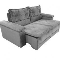Sofa Retratil e Reclinavel Saquarema Tecido Suede 2M Cinza