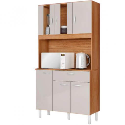 Kit Cozinha Compacta 6 Portas 1 Gaveta Magda
