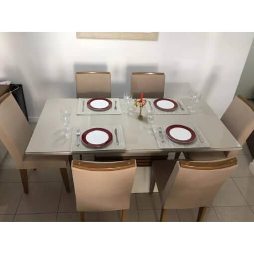 Mesa de Jantar 6 cadeiras Agatha foto real
