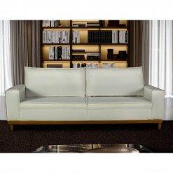 Sofa 4 Lugares Pes de Madeira Dubai Living Siena cor Bege