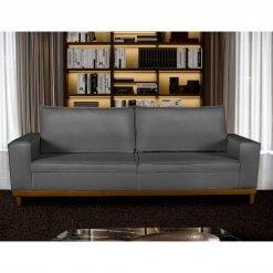 Sofa 4 Lugares Pes de Madeira Dubai Living Siena cor Cinza