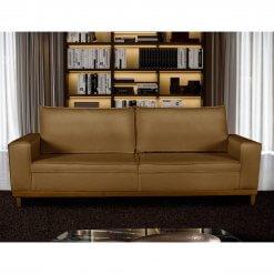 Sofa 4 Lugares Pes de Madeira Dubai Living Siena cor Marrom