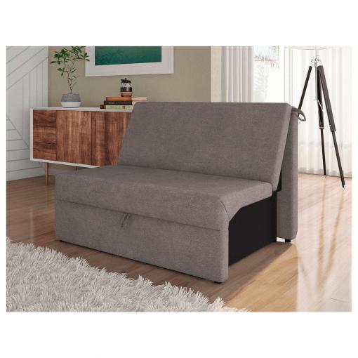 Sofa Cama Malu 2 Lugares Tecido Suede Matrix Marrom Ambiente