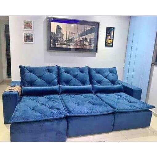 Sofa Retratil e Reclinavel Castelo Azul Foto Real