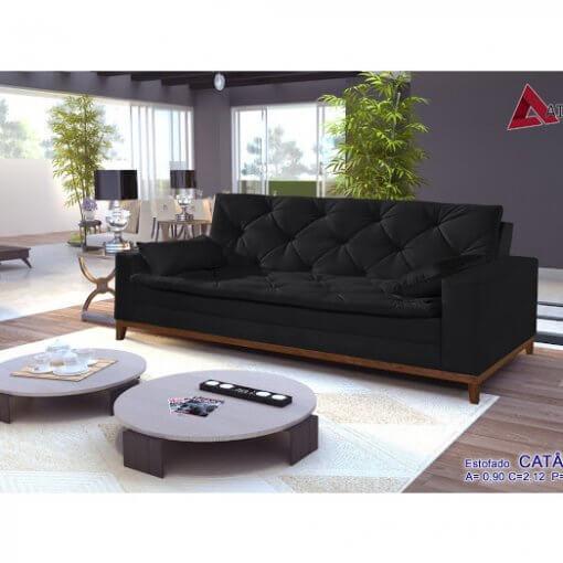 Sofa Retro Catania Preto