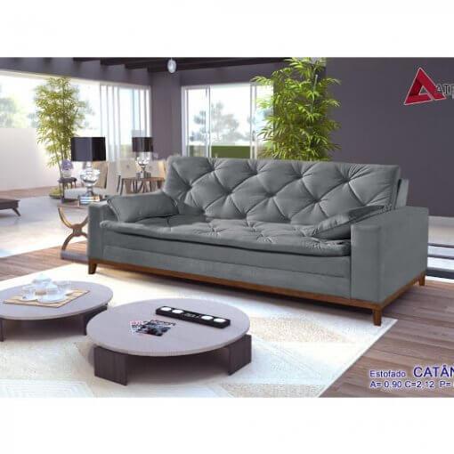 Sofa Retro Catania cinza