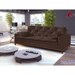 Sofa Retro Catania marrom