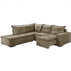 Sofa de Canto Denver Retratil bege