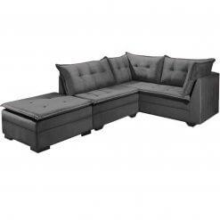 Sofa de Canto Venus JC moveis cinza