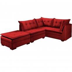 Sofa de Canto Venus JC moveis vermelho