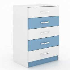 Comoda 5 Gavetas Maxi Evidencia Moveis azul