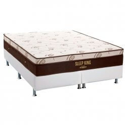 Conjunto Box Colchao Ortobom Sleep King