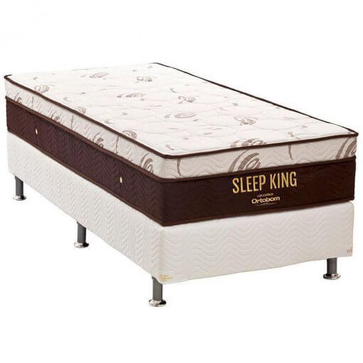 Conjunto Box Colchao Ortobom Sleep King solteiro