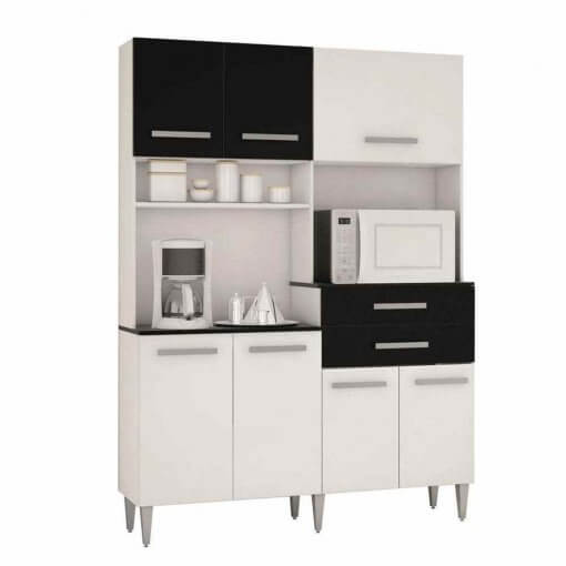 Cozinha Compacta Flavia 7 Portas e 2 Gavetas Poquema