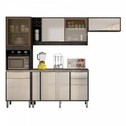 Cozinha Completa 4 Pecas agata CHF Moveis grafite